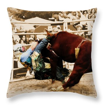 End Of A Helluva Ride Throw Pillow