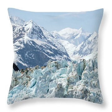 Glaciers End Of A Journey Throw Pillow