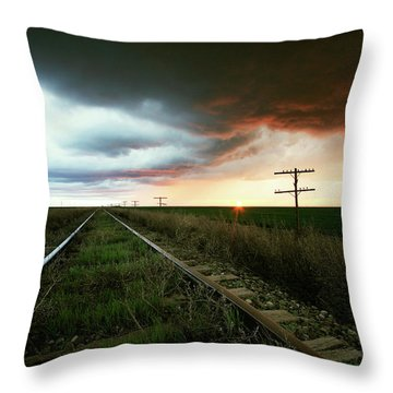End Of A Stormy Day Throw Pillow
