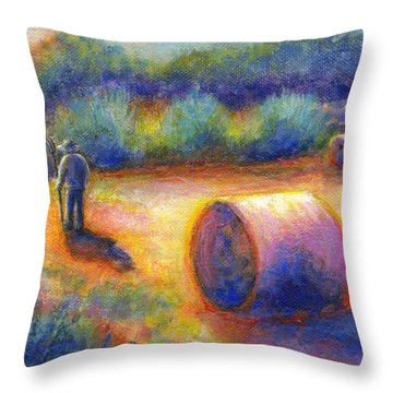 End Of A Well Spent Day Throw Pillow