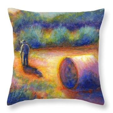 End Of A Well Spent Day Throw Pillow by Retta Stephenson