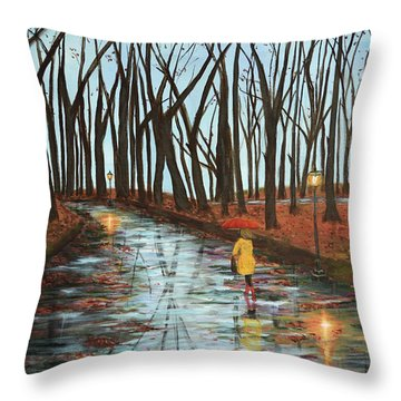 End Of Autumn Throw Pillow