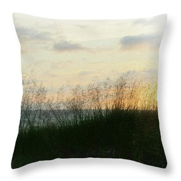 Throw Pillow featuring the photograph End Of Day At Pentwater by Michelle Calkins