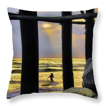 Throw Pillow featuring the photograph End Of Day by Howard Bagley