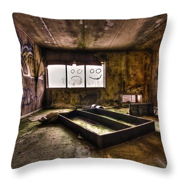 End Of Humanity Throw Pillow