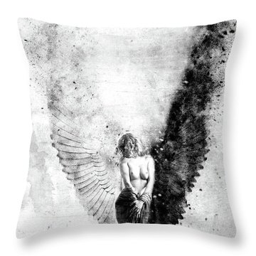 End Of Innocence Throw Pillow