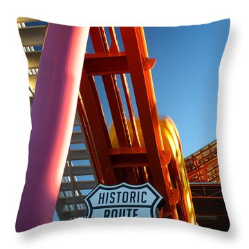 End Of Route 66 2 Throw Pillow