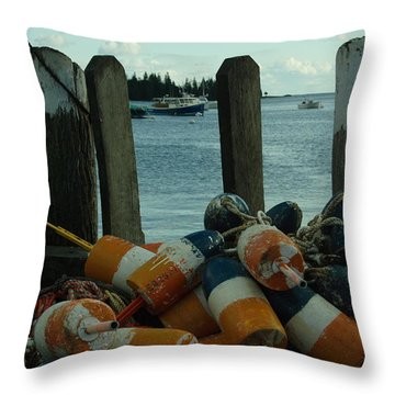 End Of Season At Owls Head Throw Pillow