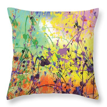 Throw Pillow featuring the digital art End Of Summer 2015 by Trilby Cole