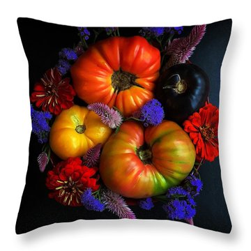 End Of Summer Colors Throw Pillow