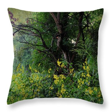 Throw Pillow featuring the photograph End Of Summer by Scott Kingery