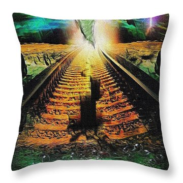 End Of The Cliff Throw Pillow