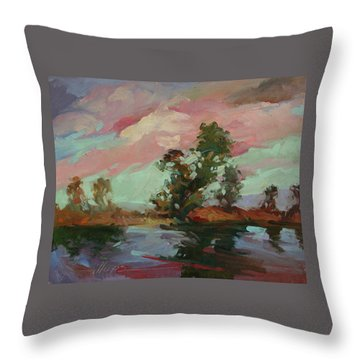End Of The Cottonwoods Throw Pillow