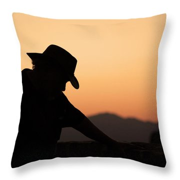 Throw Pillow featuring the photograph End Of The Day by Lynn Geoffroy