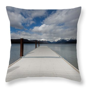 End Of The Dock Throw Pillow