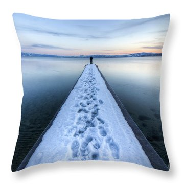 End Of The Dock In Lake Tahoe  Throw Pillow