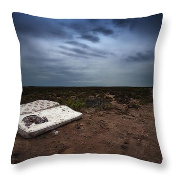Throw Pillow featuring the photograph End Of The Earth by Tim Nichols