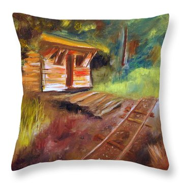 End Of The Line Throw Pillow by Phil Burton