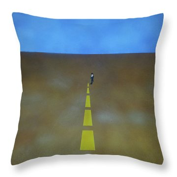 End Of The Line Throw Pillow by Thomas Blood