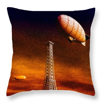 End Of The Road Throw Pillow by Bob Orsillo