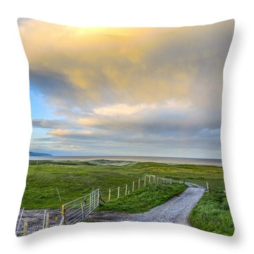 End Of The Road, Brora, Scotland Throw Pillow