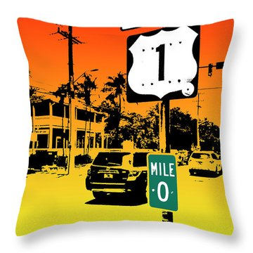 End Of The Road Throw Pillow by Timothy Lowry
