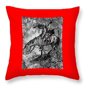 End Of The Trail 3 Throw Pillow by Ayasha Loya