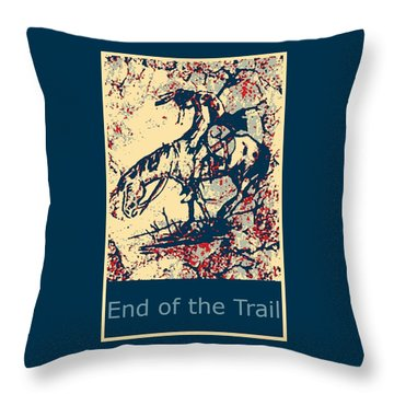 End Of The Trail 4 Throw Pillow by Ayasha Loya