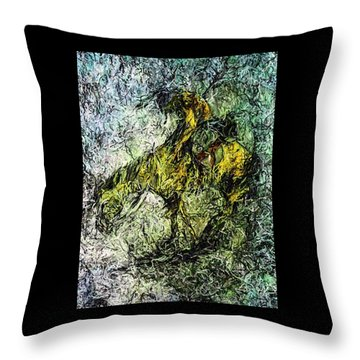 End Of The Trail 5 Throw Pillow by Ayasha Loya