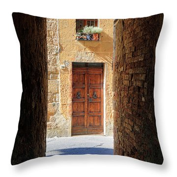 End Of The Tunnel Throw Pillow by Inge Johnsson