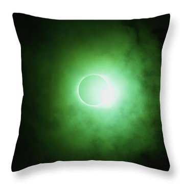 End Of Totality Throw Pillow
