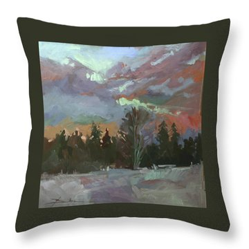Winter's Last Flame Throw Pillow