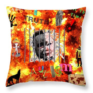 End Time Autism Throw Pillow