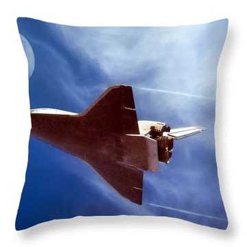 Endeavour Return Throw Pillow