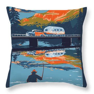 Camper Throw Pillows