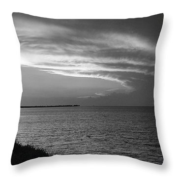 Ending The Day On Mobile Bay Throw Pillow
