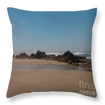 Throw Pillow featuring the photograph Endless Beach by Charles Robinson