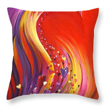 Arise My Love Throw Pillow