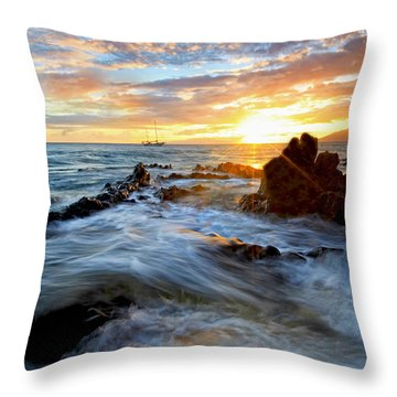Endless Ocean Throw Pillow by James Roemmling