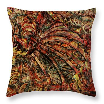 Throw Pillow featuring the mixed media Endless by Sami Tiainen