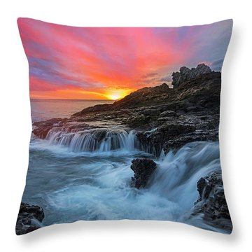 Endless Sea Throw Pillow by James Roemmling