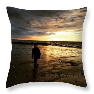 #endless Sky #sunset #norfolk #north Throw Pillow