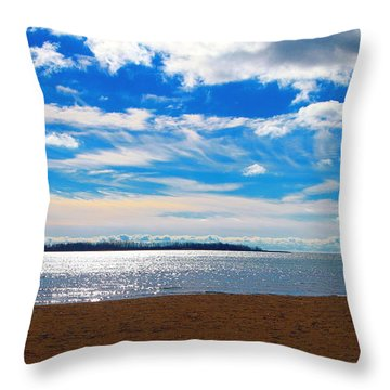 Throw Pillow featuring the photograph Endless Sky by Valentino Visentini