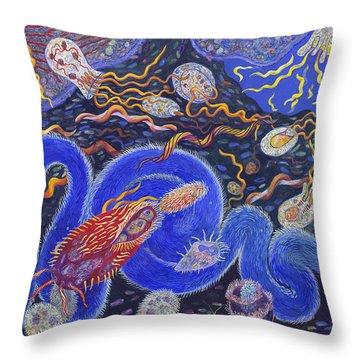 Endosymbiosis Throw Pillow