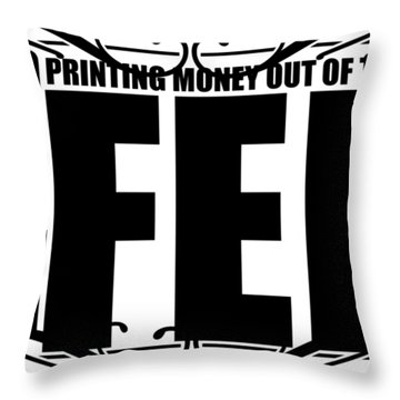 #endthefed Throw Pillow