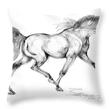 Endurance Horse Throw Pillow