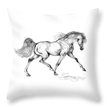 Endurance Horse Throw Pillow