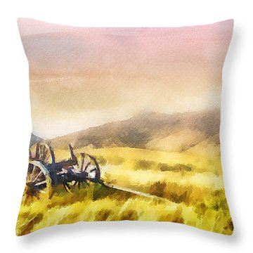 Enduring Courage Throw Pillow by Greg Collins