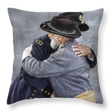 Enemies No Longer Civil War Grant And Lee Throw Pillow