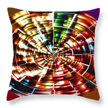 Energy Aura Cleaning Wheel In Motion Yoga Meditation Mandala By Navinjoshi At Fineartamerica.com Throw Pillow